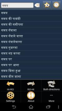 Hindi Romanian dictionary apk screenshot