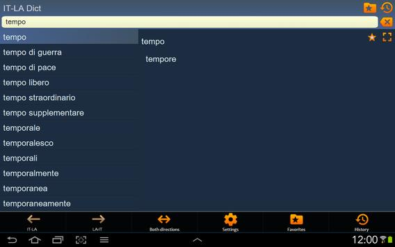 Italian Latin dictionary apk screenshot