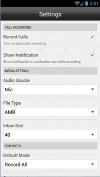 Call recorder automatic Free apk screenshot