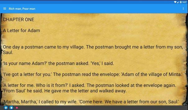Rich man, Poor man. Audiobook apk screenshot