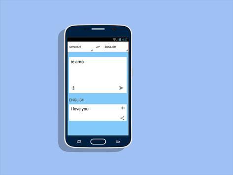 Traductor de espanol a ingles apk screenshot
