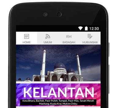 Kelantan Prayer Times poster