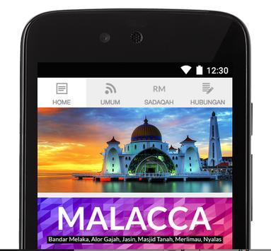 Malacca Prayer Times poster