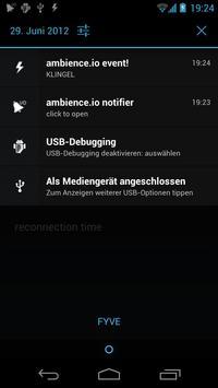 ambience.io Notifier apk screenshot