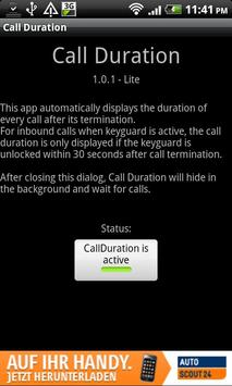 Call Duration Lite poster