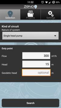 Zeno Pump Selector apk screenshot