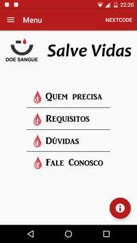 Doe Sangue App poster