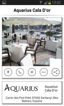Aquarius Restaurante Cala D'or apk screenshot