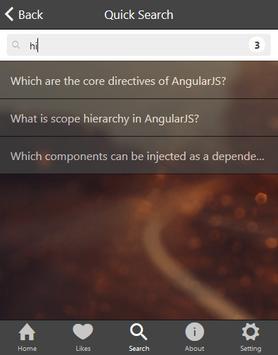 AngularJS Interview QA apk screenshot