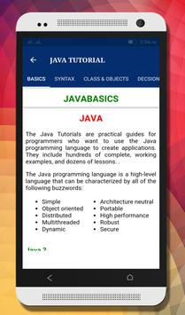 Tutorials for Android and Java apk screenshot