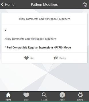 Regex Cheatsheet apk screenshot