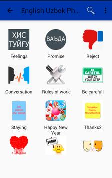 English Uzbek Phrasebook apk screenshot