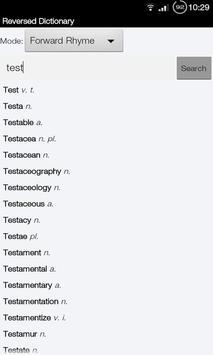 Rhyme Reverse Dictionary apk screenshot