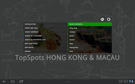 TopSpots Hong Kong & Macau apk screenshot