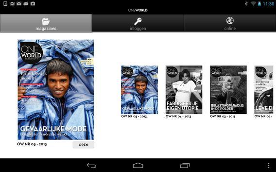 OneWorld Magazine apk screenshot