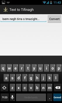 Text to Tifinagh apk screenshot