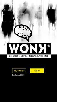 WONK Kennisdeling Storytelling poster