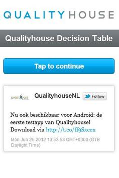 Qualityhouse Decision Table M poster
