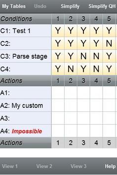 Qualityhouse Decision Table M apk screenshot