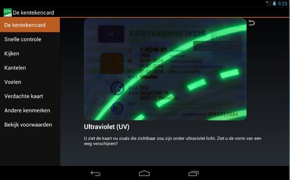 Kentekencard apk screenshot