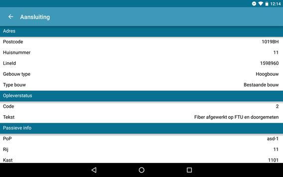 Reggefiber Netwerk info apk screenshot