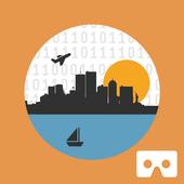 Open Data 3D Cardboard icon