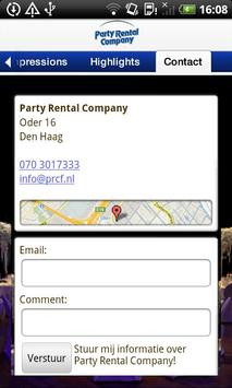 Party Rental Company apk screenshot