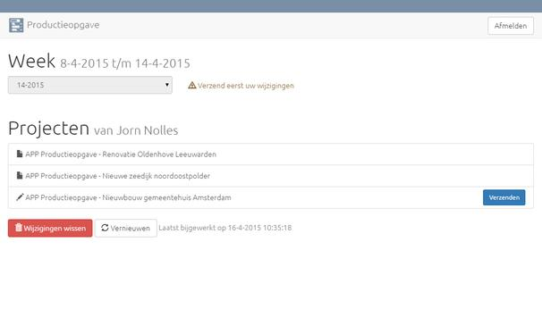 Productieopgave apk screenshot