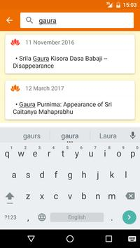 Vaishnava calendar apk screenshot