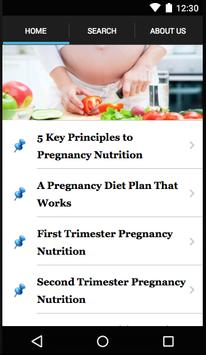 Nutrition In Pregnancy poster