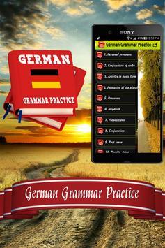 German Grammar Practice poster