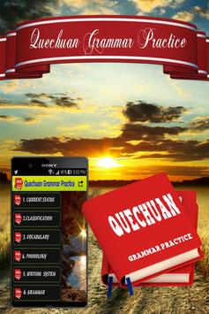 Quechuan Grammar Practice poster