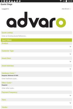 Advaro Finance - Vendor App poster