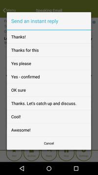 Speaking Email - voice reader apk screenshot