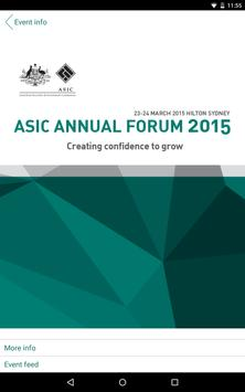 ASIC Annual Forum 2015 poster