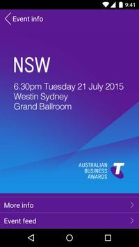 Telstra Business Awards poster