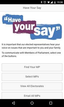 Have Your Say poster