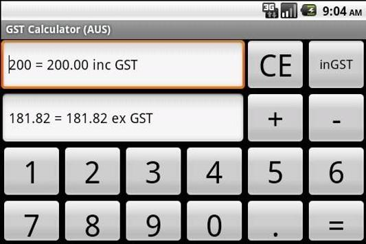 GST Calculator (AUS) apk screenshot