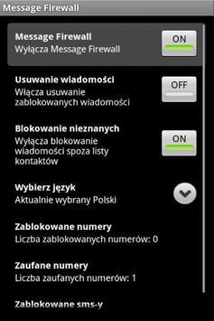 Message Firewall FREE apk screenshot