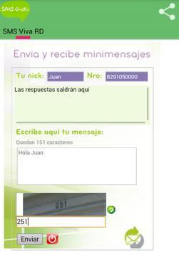 SMS Gratis Viva RD apk screenshot