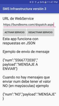 SMS Infraestructura V3 poster