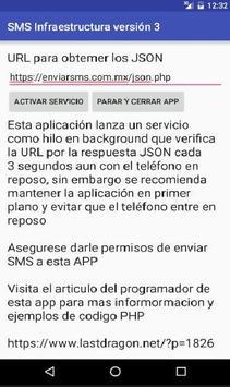 SMS Infraestructura V3 apk screenshot