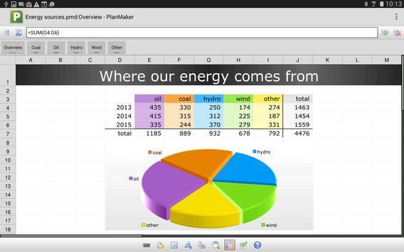 FREE Office: PlanMaker Mobile apk screenshot