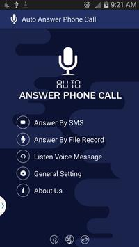 Auto Answer Phone Call poster