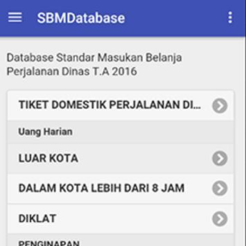 SBMDatabase 2016 apk screenshot
