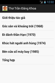 Thơ Trần Đăng Khoa poster