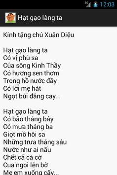 Thơ Trần Đăng Khoa apk screenshot