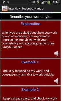 Interview Success Mantra apk screenshot