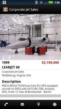 Corporate Jet Sales apk screenshot