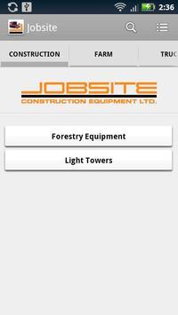 Jobsite Construction Equipment poster